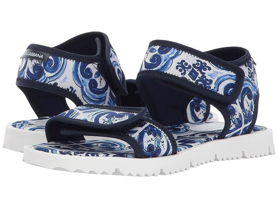 Dolce & Gabbana Kids Capri Flip-Flop (Little Kid/Big Kid) (Blue) Kids Shoes