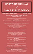 Harvard Journal of Law & Public Policy, Volume 36, Issue 2 (Pages 403 - 924)