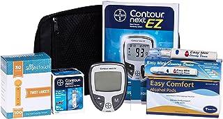 Contour Next Diabetes Testing Kit - Contour Next Ez Meter, 50 Bayer Contour Next Test Strips, 100 30g Slight Touch Lancets, 1 Lancing Device, 100 Alcohol Prep Pads