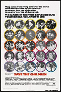 SAVE THE CHILDREN original 1973 27x41 one sheet movie poster MICHAEL JACKSON/MARVIN GAYE/BILL WITHERS/THE TEMPTATIONS