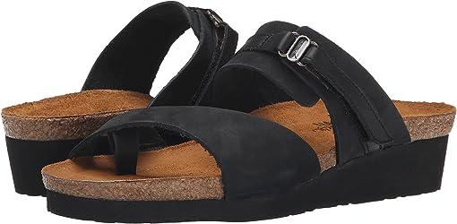 Black Shiny Leather/Black Nubuk