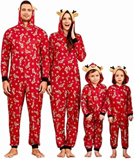 Family Matching Pijamas Christmas Festival Onesie One Piece Xmas Deer Hooded Jumpsuit Ropa de Dormir Loungewear para papá, mamá y yo Pjs Lounge Wear