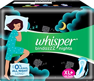 Whisper bindazzz nights XL+ 44 sanitary pads for women