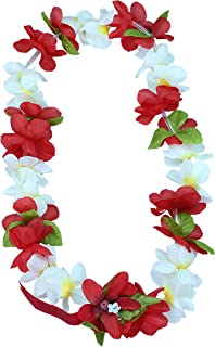 Hawaii Luau Party Artificial Fabric Princess Plumeria Lei in