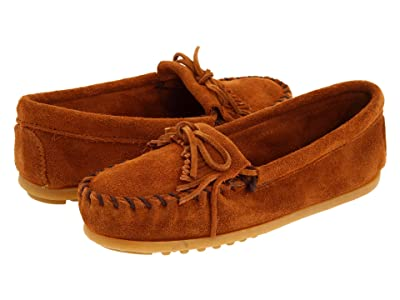 Minnetonka Kids Kilty Suede Moc (Toddler/Little Kid/Big Kid) (Brown Suede) Kids Shoes