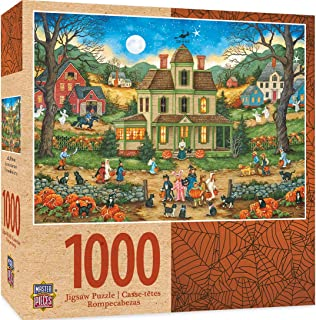 MasterPieces Halloween Jigsaw Puzzle, Lucky Thirteen, Featuring Art by Featuring Art by Bonnie White, 1000 Pieces