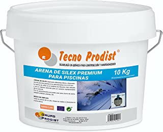 Tecno Prodist Arena DE Silex Premium para Piscinas Cubo de 10 Kg (Granulometría 0,4 a 0,8 mm) Ideal para el Filtro de su P...