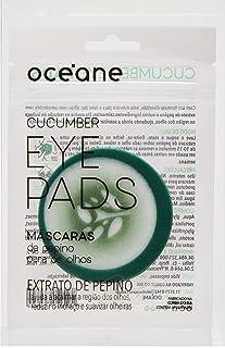 Máscara De Pepino Para Os Olhos - Cucumber Eye Pads, Océane, Verde/Branco