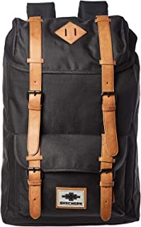 Skechers Fashion Backpack, Unisex - Black