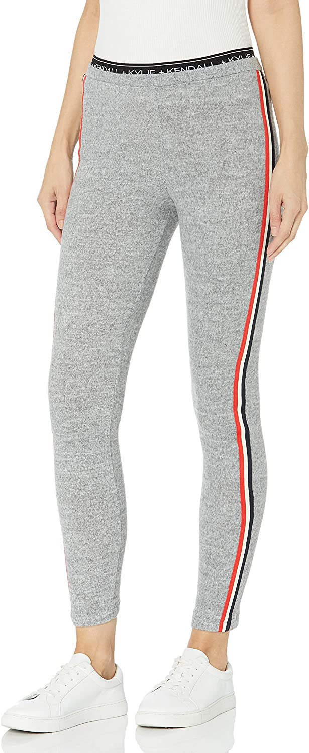 KENDALL + KYLIE Women's Double Waistband Brushed Leggings