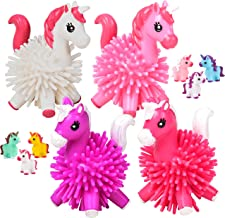 Unicorn Bath Toys – (Pack of 18) Squirt Bathtub Toys - Squeeze to Squirt Water, Fun Cute Unicorn Rubber Ducks and Adorable Spikey Toy Hedge Balls