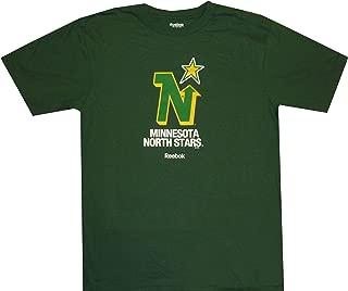Reebok Minnesota North Stars Throwback Vintage Dark Green T Shirt