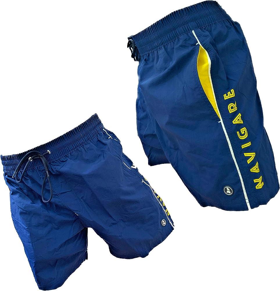 Navigare costume da bagno a pantaloncini da uomo 100% poliestere Blu 24-98370
