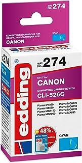 edding Tintenpatrone EDD 274 ersetzt Canon CLI 526C   Cyan   10,5ml