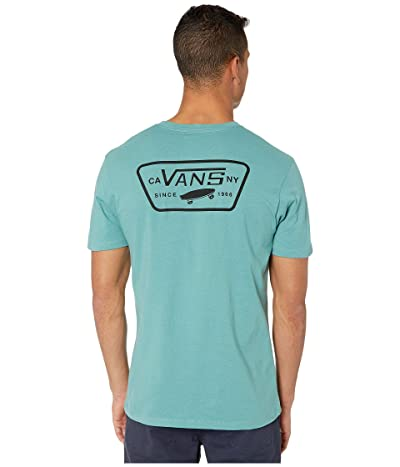 Vans Full Patch Back Long Sleeve T-Shirt (Oil Blue/Black) Men