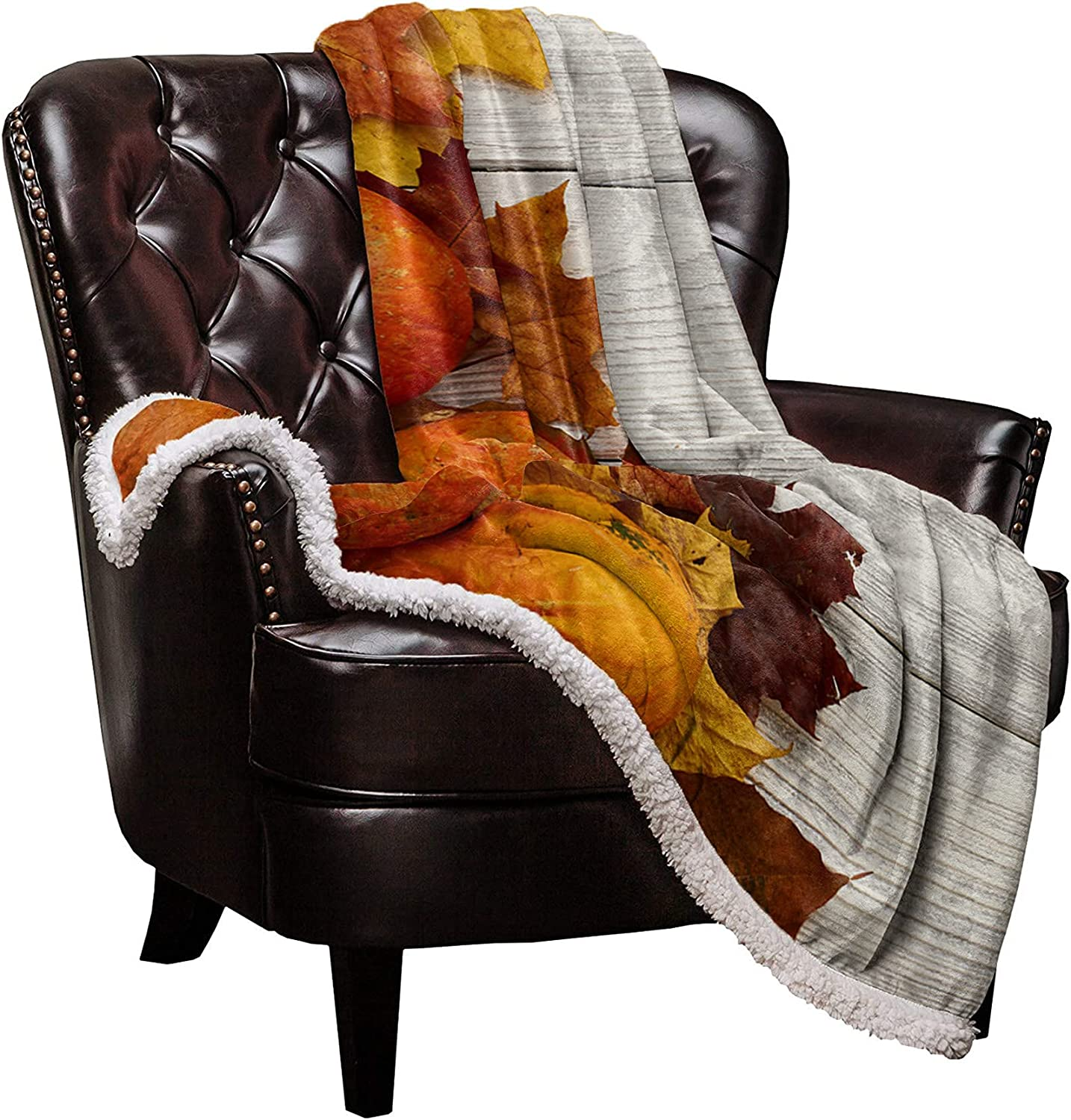 DaringOne Max 53% OFF Thanksgiving Sherpa Fleece Flannel Blanket Doub Throw Online limited product