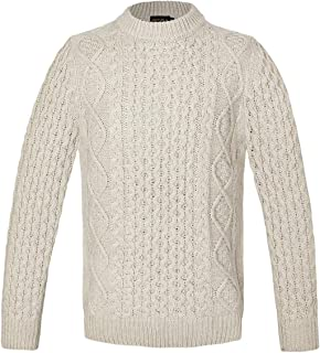 BOTVELA Mens Pullover Sweaters Knitted Long Sleeve Crew Neck in Classic 5 Colors
