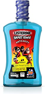 Listerine Smart Rinse Kids Alcohol-Free Anticavity Fluoride Mouthwash Featuring Disney/Pixar Incredibles, Bubble Blast Fla...