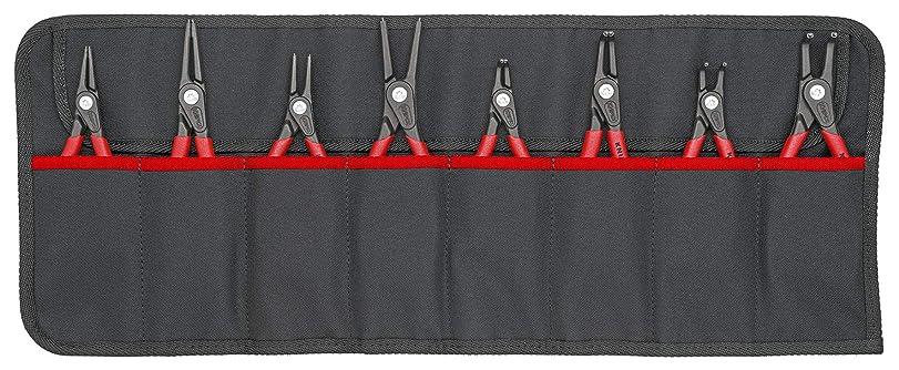 広いウィザード鷲クニペックス (KNIPEX) スナップリングプライヤー KNIPEX 001958V02 精密スナップリングプライヤーセット(8本組) 001958V02