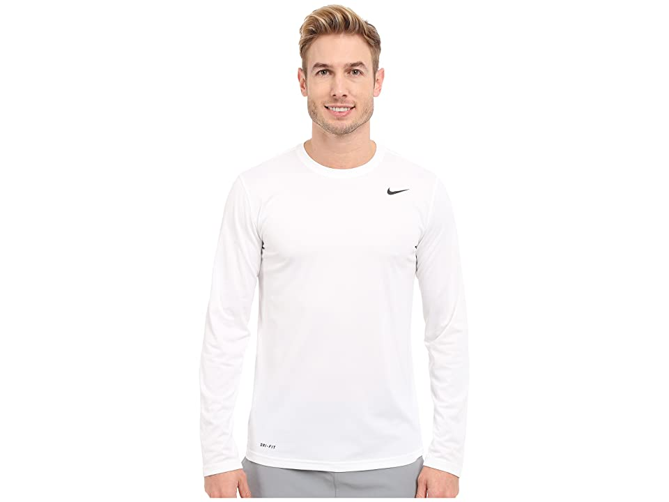 Nike Legend 2.0 Long Sleeve Tee (White/Black/Black) Men