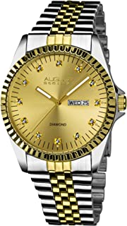 August Steiner Men's Marquess Analogue Display Quartz Watch with Stainless Steel Bracelet