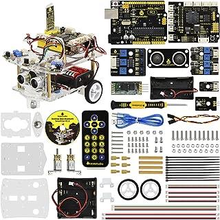 KEYESTUDIO Desktop Mini Robot Car V2.0 for Arduino Education, Electronic Coding Robotics for Kids Age 12+, Stem Education Kids Toys for Christmas