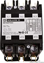 SQUARE D BY SCHNEIDER ELECTRIC 8910DPA53V02 CONTACTOR, 3PST-NO, 120VAC, 50A, PANEL