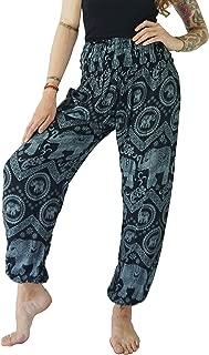 Women's Rayon Elephant Print Boho Harem Yoga Pants