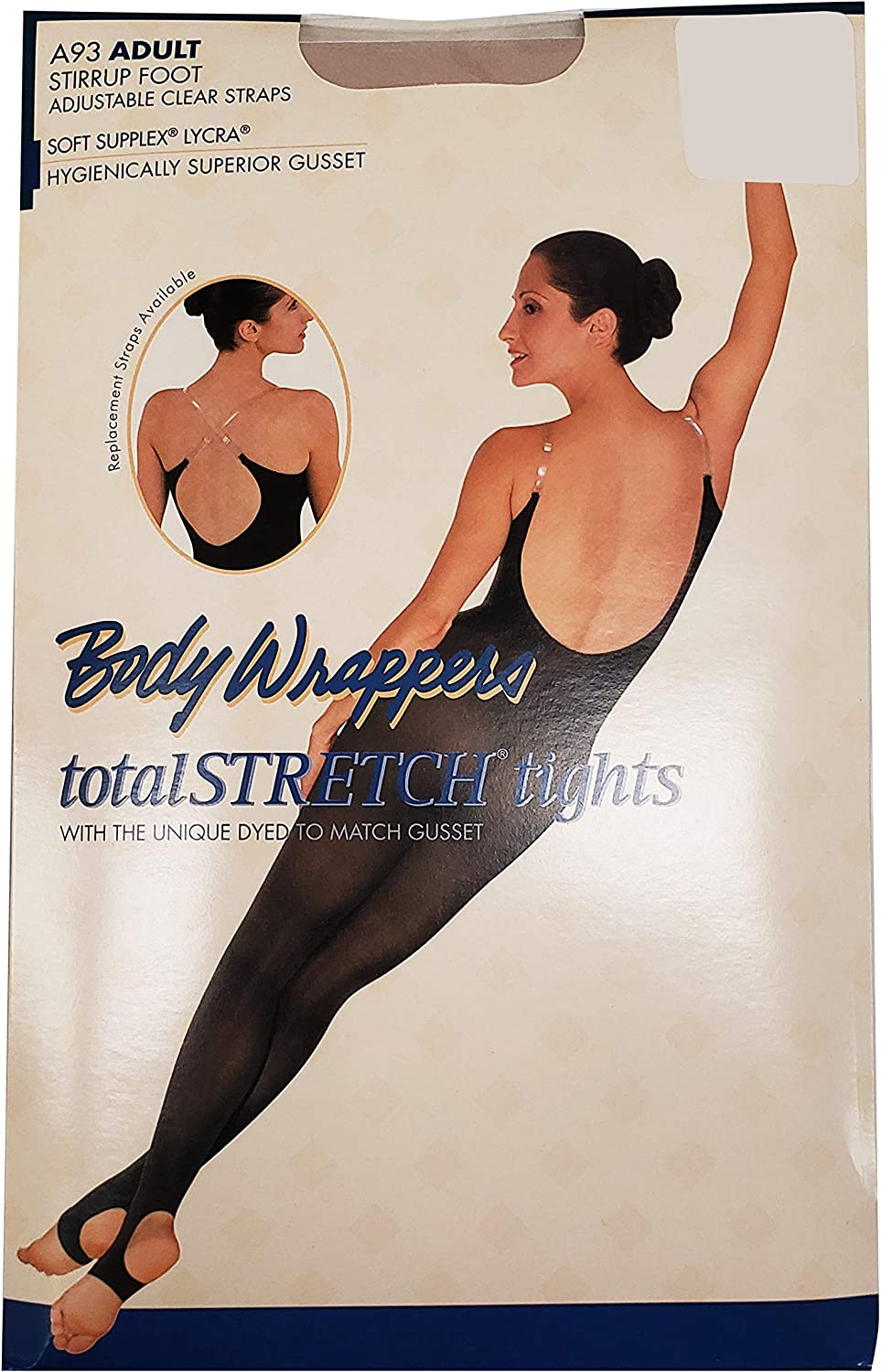 Body Wrappers A93 TotalSTRETCH Stirrup Camisole Body Tights