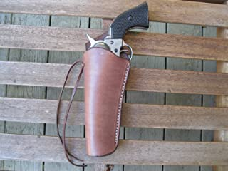 Brown Left Handed Cross Draw Leather Gun Holster