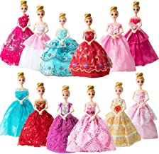 SOTOGO 12 Pieces Doll Clothes Dresses for Barbie Girl Dolls Fashion Handmade 11.5 Inch Girls Doll Clothes Wedding Party Dresses Gowns Outfit for Little Girls Party Supply