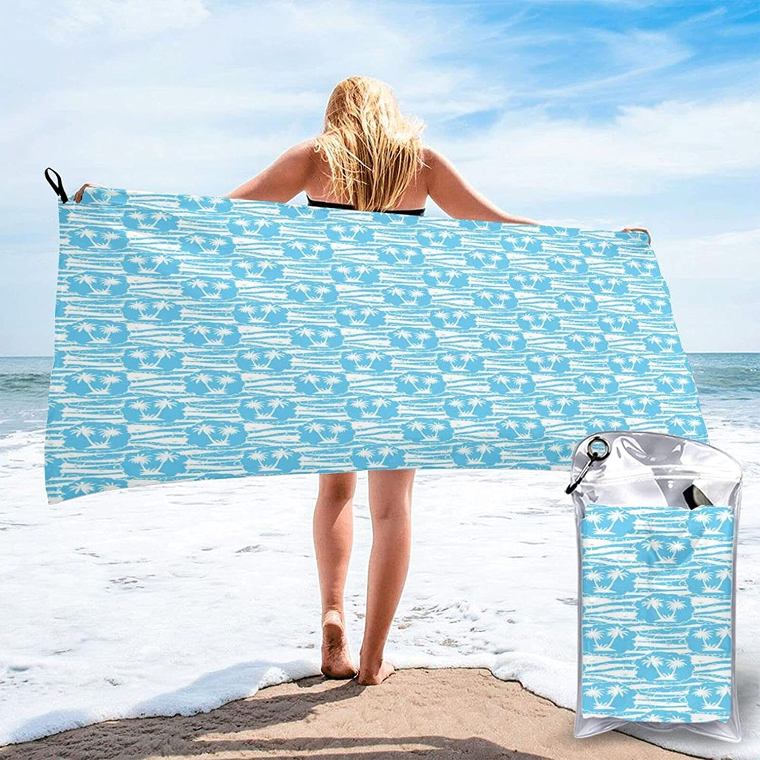 Superior Beach Branded goods Towel Thick Microfiber Cool with Summer Exotic Pal Pattern