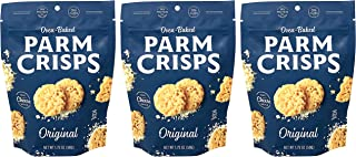 ParmCrisps Original 100% Cheese Crisps - Keto Friendly, Gluten Free, 1.75 Ounce Bag, Pack of 3