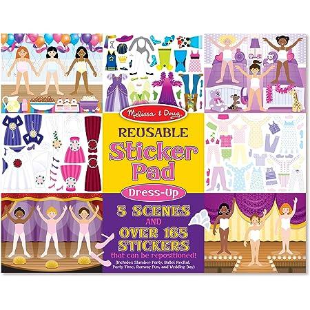 Melissa & Doug   Bloc D'Autocollants Réutilisables  Stickers   Pour garçon ou fille  Tenues Vestimentaires