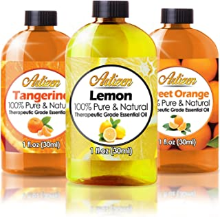 Citrus Essential Oils Set - 1oz 3 Pack Set (100% PURE ESSENTIAL OIL) Sweet Orange, Lemon, and Tangerine