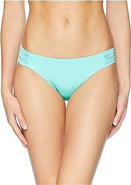Trina Turk Studio Solids Shirred Side Hipster Bikini Bottom