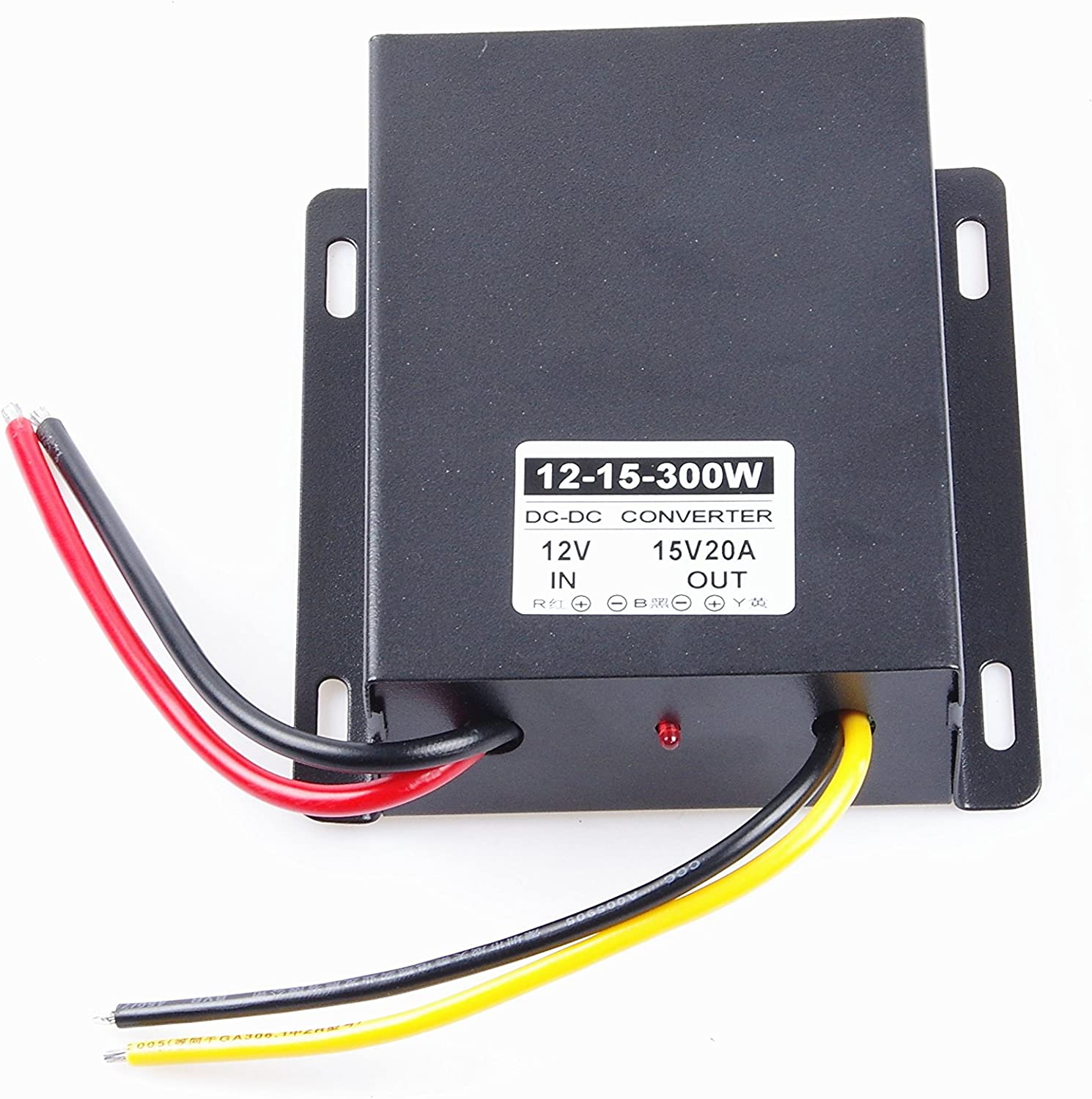 KNACRO 15V 20A 300W DC-DC Converter DC 12V (9-14V) Step Up to 15V 20A Power Supply (in DC 9-14V, Out 15V 20A)