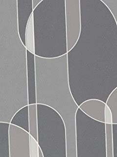 Funky Transparent Oval Wallpaper (Grey)