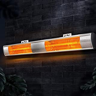 Devanti Electric Heater Infrared Heater Outdoor Radiant Strip Heaters Halogen 3000W