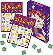 Diwali Bingo Game Cards Festival of Lights Board Game Indian New Year Celebration Lakshmi's Day Activity Game Supplies for...
