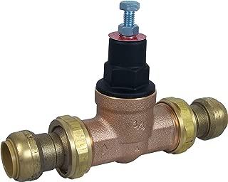 SharkBite 24432-0045 3/4-Inch EB-45 Double Union Push-Fit x Push-Fit Pressure Regulator, Bronze