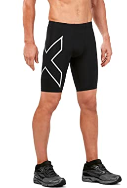 2XU Men's Run Compression Shorts with Back Pocket