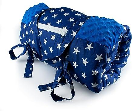 1buy3 Krabbeldecke, Krabbeldecke, Krabbeldecke, Picknickdecke, wärmeisoliert und wasserdicht mit Tragegriff, Royalblau  Sterne, 170 x 140 cm B079GSZMJQ | Haltbarkeit  f7da54