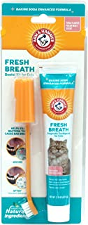 Arm & Hammer Cat Dental Care Dental Kit for Cats | Eliminates Bad Breath | 3 Piece Set Includes Toothpaste, Toothbrush & F...