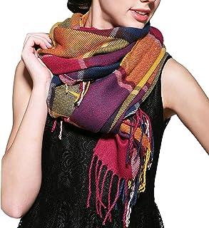 EWJY Scialle Moda Quattro Stagioni Stampato Sezione Sottile Sciarpe Hijab da Donna Scialle Avvolgente Sciarpa da Donna in Raso di Seta