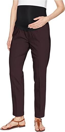 Maternity Kristy Straight Trousers in Clean Weave Fabric in Aubergine