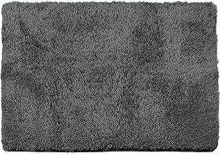 Clara Clark Shaggy Bath Rug with Non-Slip Backing Rubber Super Soft Bathmat, Large-32 x 48, Gray