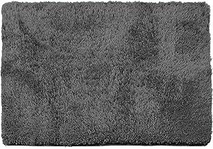 Clara Clark Shaggy Bath Rug with Non-Slip Backing Rubber Super Soft Bathmat, Gray, Large - 32 x 48