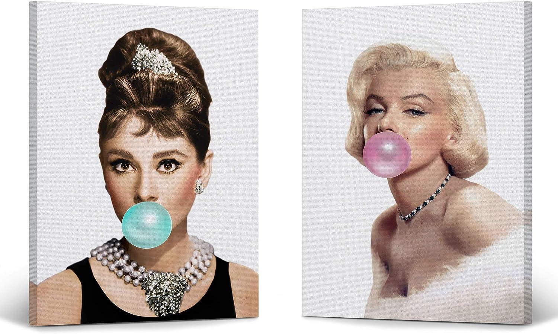 Smile Art Design Max 78% OFF Audrey Hepburn Ranking TOP9 and Gum Monroe Marilyn Ca Bubble