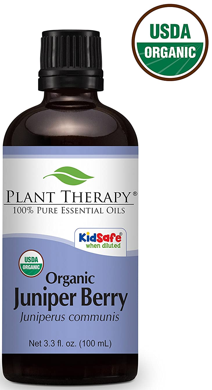 グロー技術者適用済みPlant Therapy Juniper Berry ORGANIC Essential Oil. 100 ml (3.3 oz) 100% Pure, Undiluted, Therapeutic Grade.